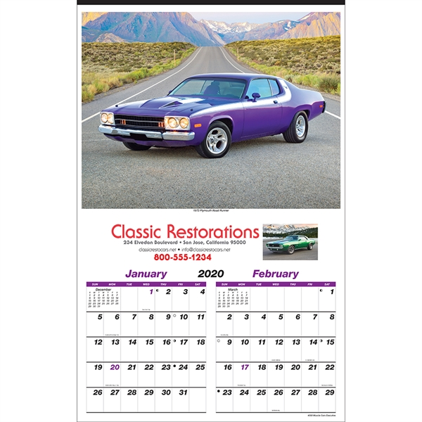 Personalized Muscle Cars Executive Calendar