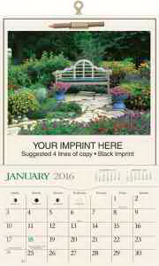 Imprinted Home and Garden Pocket Calendar