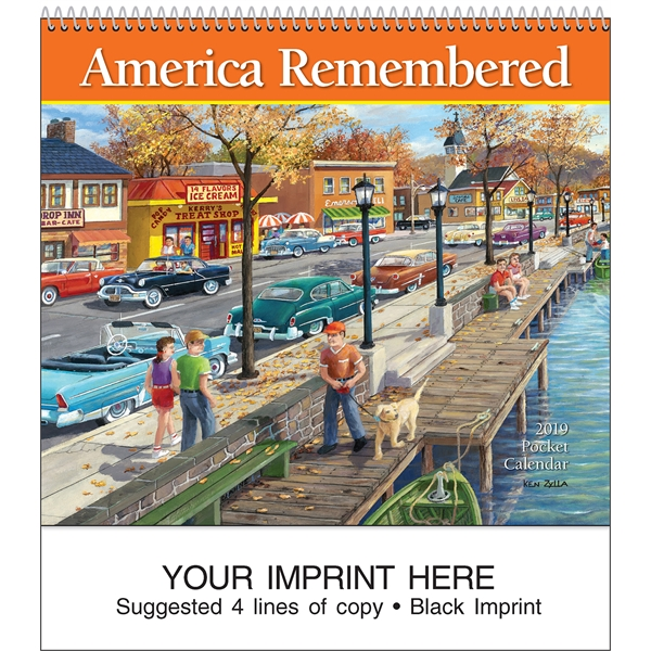 Custom America Remembered Pocket Calendar