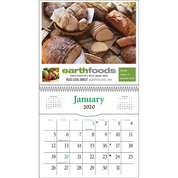 Customized Pocket Cookbook Calendar