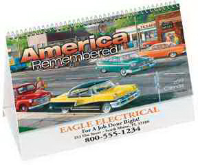 Printed America Remembered Desk Calendar