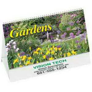 Imprinted Gardens Desk Calendar