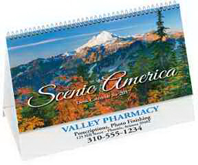 Imprinted Scenic Desk Calendar