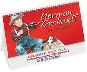 Imprinted Rockwell Desk Calendar