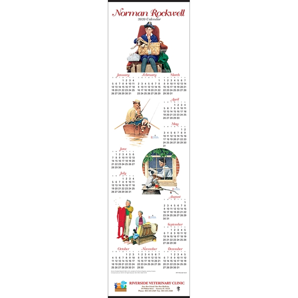 Imprinted Rockwell Scroll Calendar