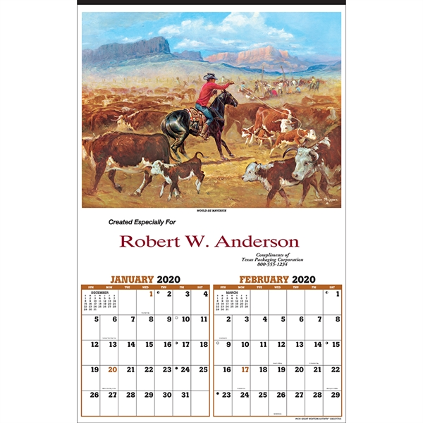 Customized Great Western Artists Executive Calendar