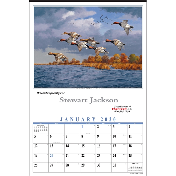 Promotional Maass Wildfowl Executive Calendar
