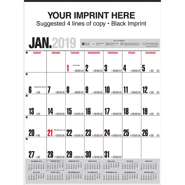 Imprinted Handi-Record (TM) Calendar