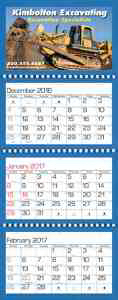 Customized Quarterly Guide Calendar
