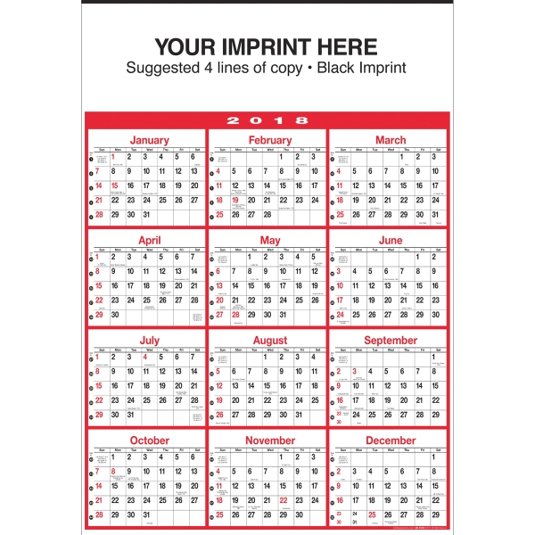 Promotional Yearly Business Planner Red