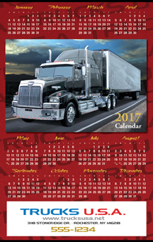Promotional Full Color Year on a Page Calendar