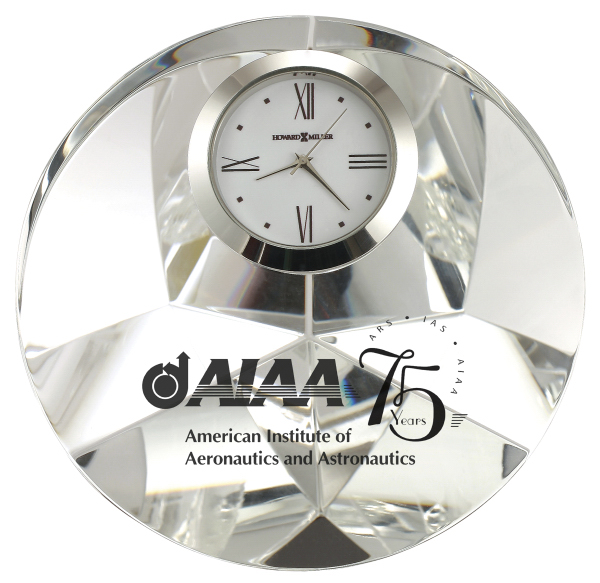 Personalized Galaxy Crystal Award Clock