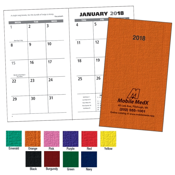 Personalized Value Monthly Pocket Planner