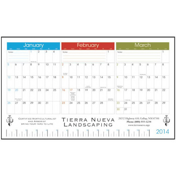 Promotional 3-Month View Desk Pad