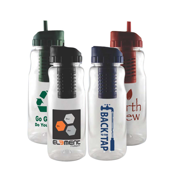 Personalized 22 oz Filter Water Bottle
