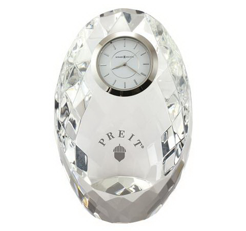 Personalized Rhapsody Crystal Award Clock