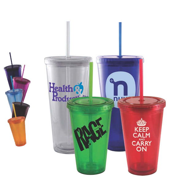 Imprinted Double Wall Acrylic Insulated Tumbler