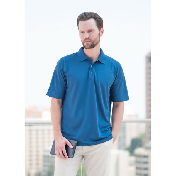 Personalized Palmetto Textured Saddle Shoulder Golf Polo