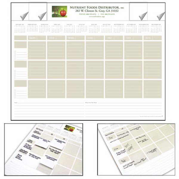 Custom Adhesive Note Desk Pad