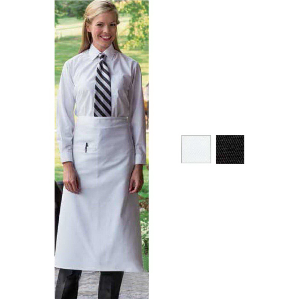 Printed Inset-Pocket Black Bistro Apron