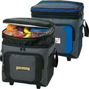 Promotional 36 Can Roller Cooler With Storage