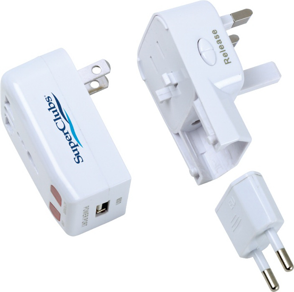 Imprinted Global Travel Adapter
