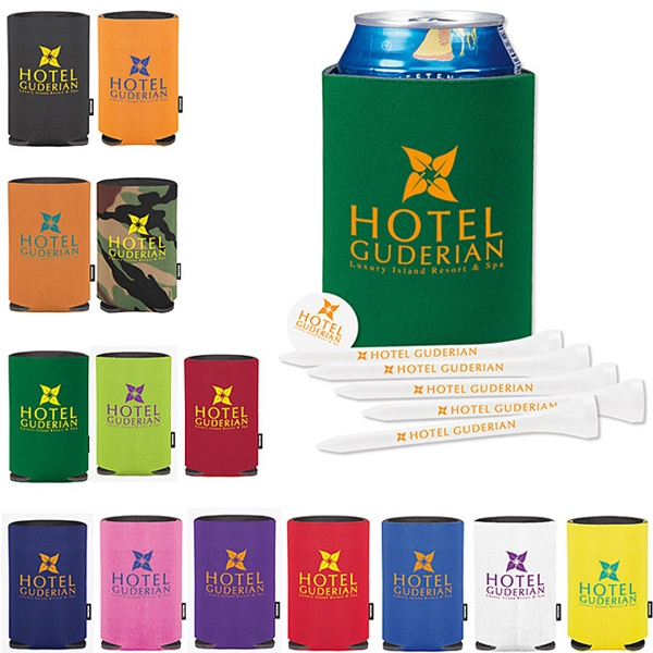 Custom Collapsible KOOZIE (R)  Golf Tee Kit