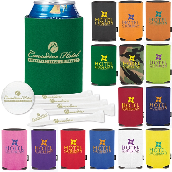 Custom Collapsible KOOZIE (R) Deluxe Golf Event Kit - NDX Heat