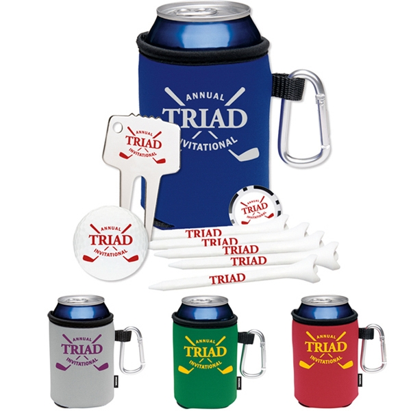 Imprinted High Rollers KOOZIE (R) Golf Event Kit-NDX Heat