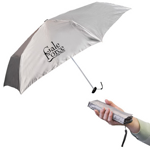 "Promotional 39"" Fold-Flat Pocket Umbrella With Matching Case"