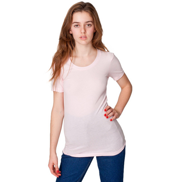 Promotional Sheer Jersey Short Sleeve Women's Summer T