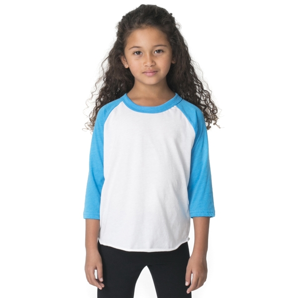 Customized Kids Poly-Cotton 3/4 Sleeve Raglan