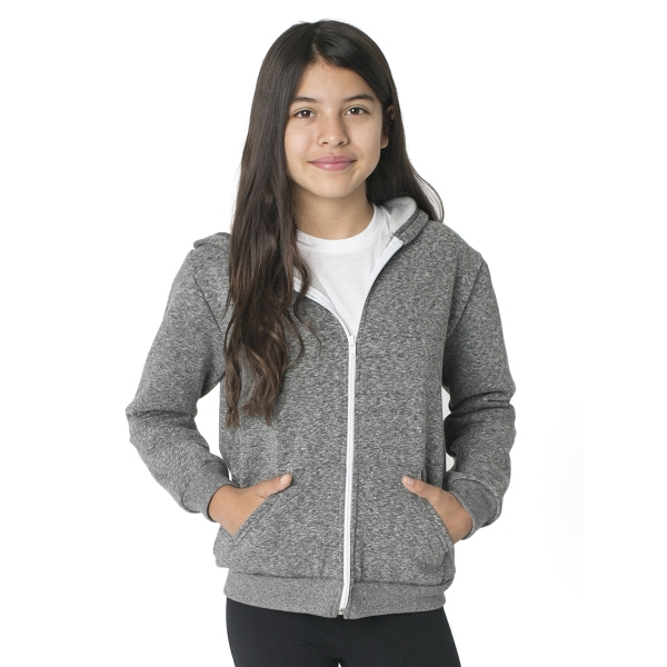 Printed Youth Salt and Pepper Zip Hoody