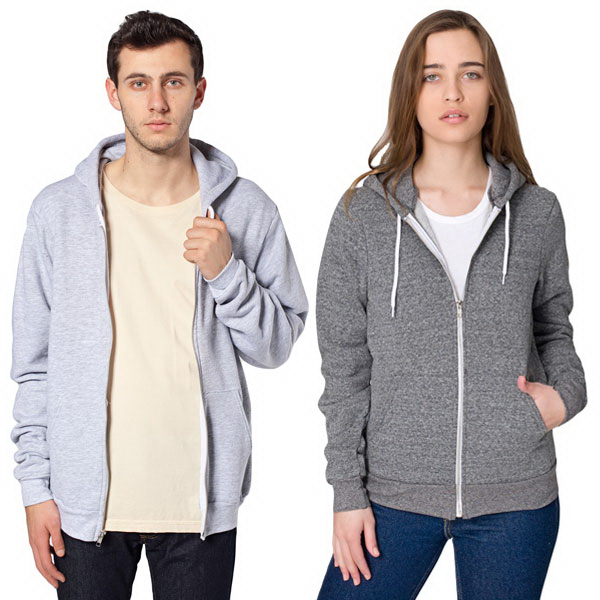 Customized Unisex Salt and Pepper Zip Hoody