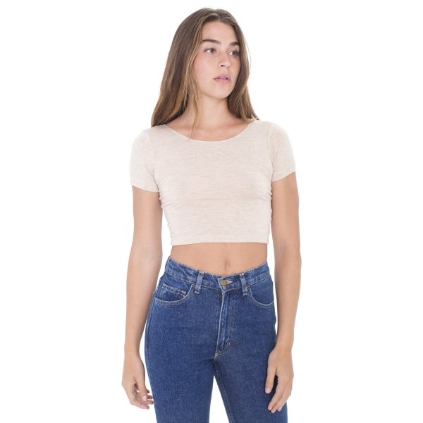 Promotional Cotton Spandex Jersey Crop Tee