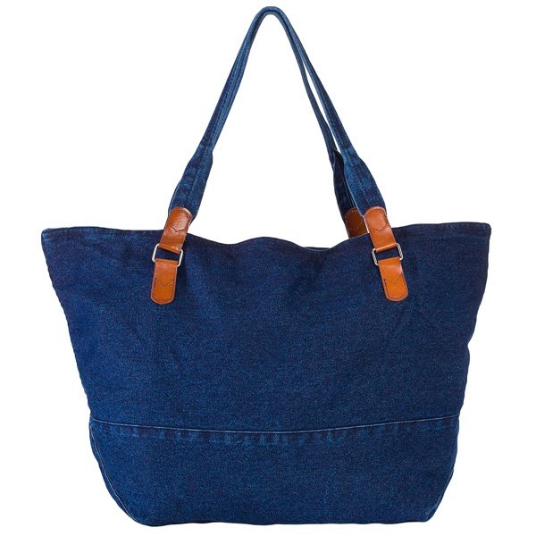 Imprinted Large Denim Carry-All Bag