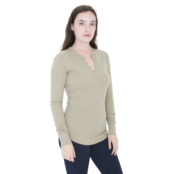 Personalized Unisex Baby Thermal Long Sleeve Henley