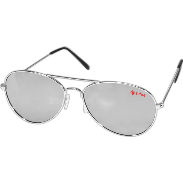 Imprinted Pilot II Aviator Sunglasses