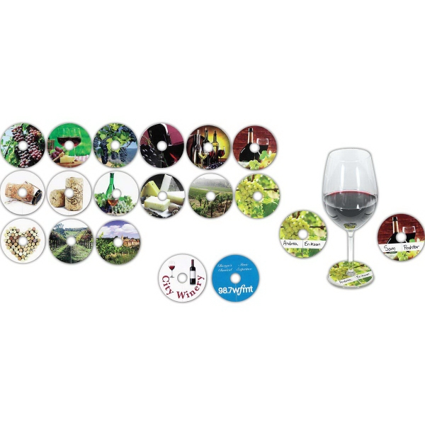 Custom Compostable Wine Glass Tag