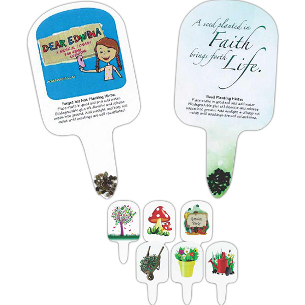 Customized Garden Art Compostable Seed Stakes