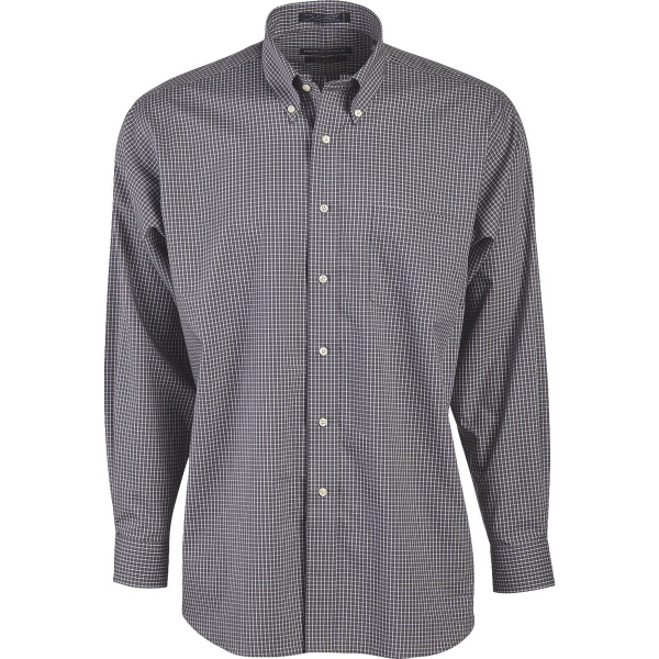 Promotional Men's Box Check Executive Pinpoint Oxford Freedom Shirt