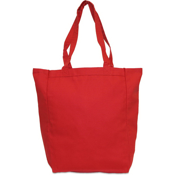 Custom Cotton Canvas Gusset Tote