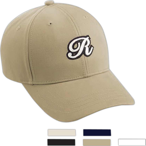 Custom Page & Tuttle (R) Solid Brushed Twill Cap