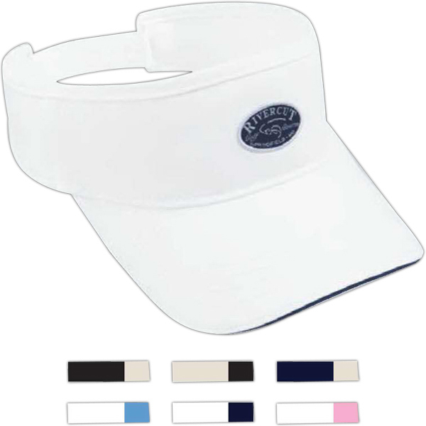 Custom Washed Twill Sandwich Visor with Sandwich Bill