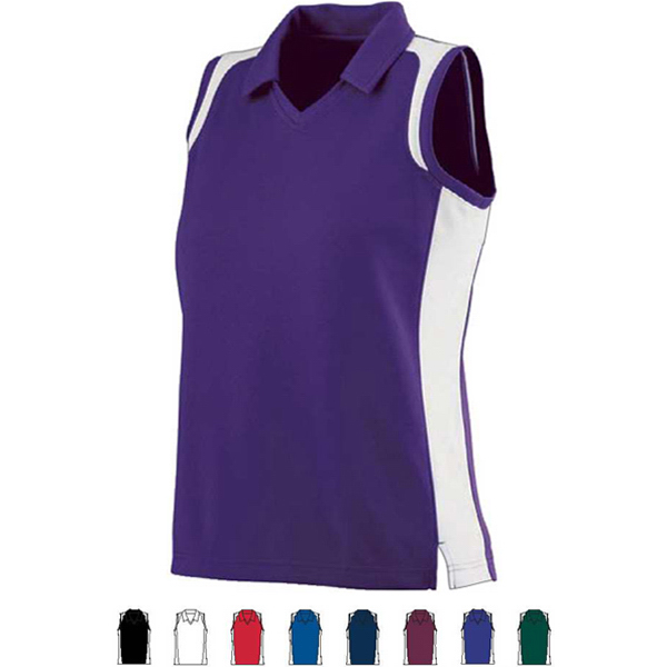Custom Ladies Sleeveless Wicking Textured Gameday Sport Shirt
