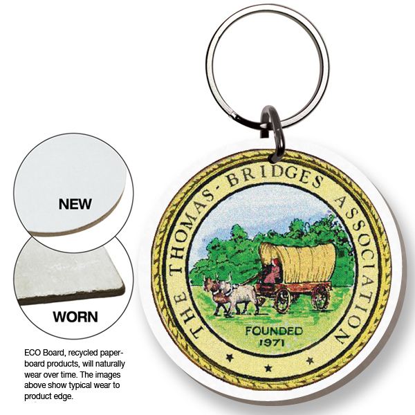 Customized ECO Key Tag - Round - Full Color