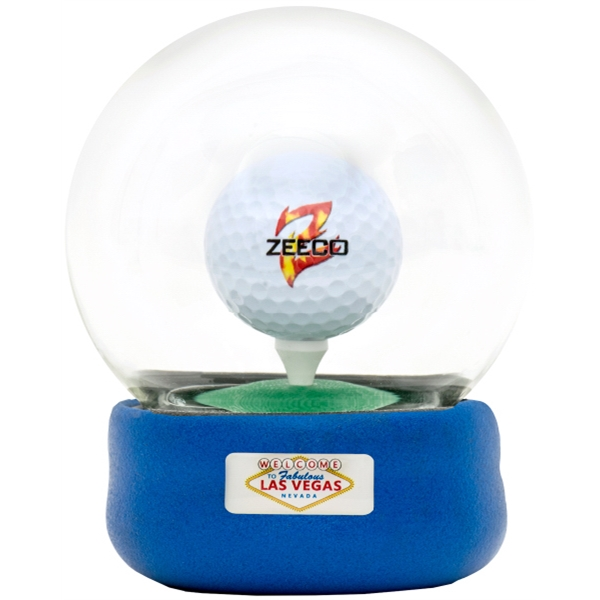 Personalized Golf Globe Game with Dome Label on Base
