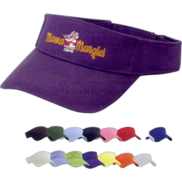 Customized Washed Cotton Twill Visor