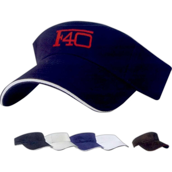 Customized Brushed Cotton Twill Sandwich Visor