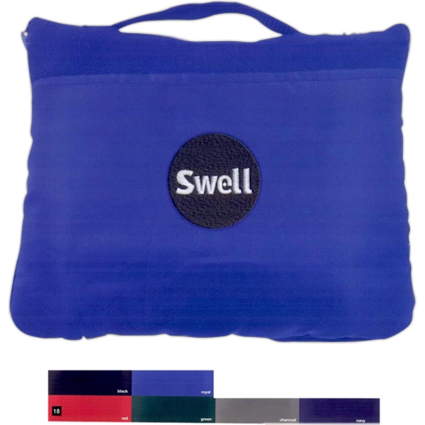 Promotional Fleece travel blanket